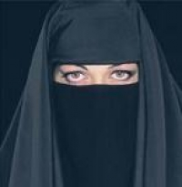 Burka on the run at bedtime